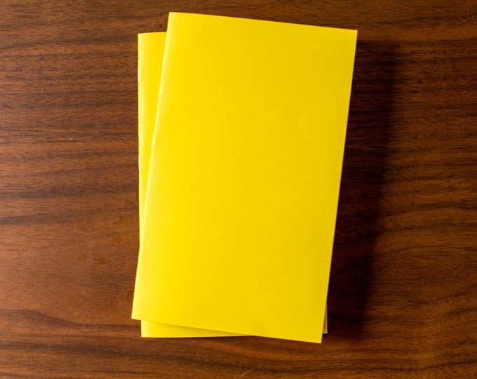 Yellow Notebooks - 2 Pack Journal, Planner, Journal Insert, Planner Insert Mini Diaries, Jotters, Blank Books, Paper Notebook, bulk