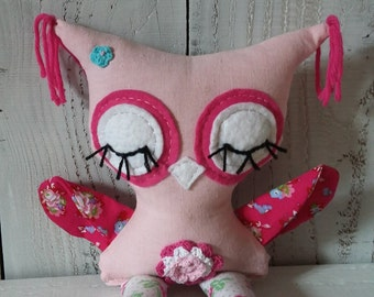 "Owl Softie, Plush Owl Girl, ""READY TO SHIP"""