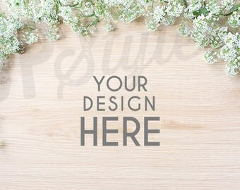 Floral Stock Photo - Desktop Mock Up - Styled Photograph - Product Photograph A184