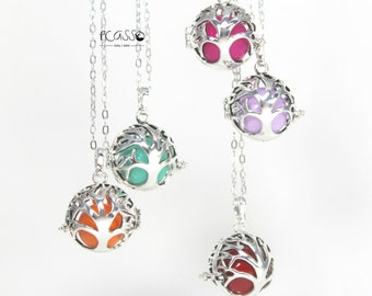 Bola harmony silver, tree of life pregnancy, musical ball, expectant mothers, many colors, stainless steel, baby shower, carillon,