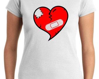 T0254 heartbroken Woman t-shirt