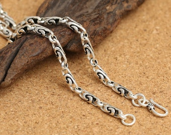 Sterling Silver Spiral Chain, Sterling Spiral Chain, 925 Silver Spiral Chain Necklace, Men Chain Necklace 4mm 18 20 22 24 26 28 Inches -E410