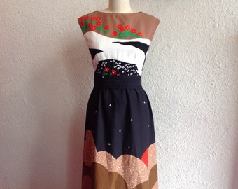 1960s Malia cotton maxi dress