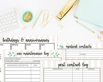 Home Management Printables - home organization printable worksheets