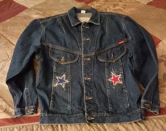 Patriotic denium jacket