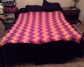 Colorful Waves Blanket
