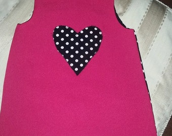 handmade girls reversible dress party casual 2 in 1