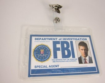 Supernatural  FBI ID card Dean Winchester, Dean Cosplay ID