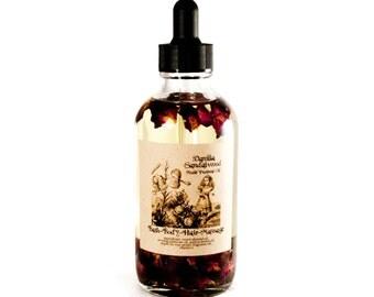 Body Oil, Vanilla Sandalwood Multi Purpose Oil,  Bath Oil, Massage Oil, Moisturizer, Hair Oil, Gift For Her, Spa Gift, All Purpose Oil