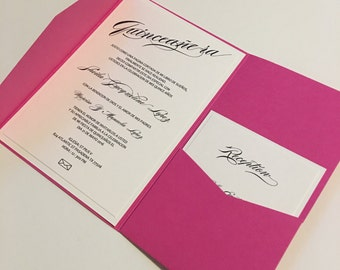 Quinceañera Invitation Card