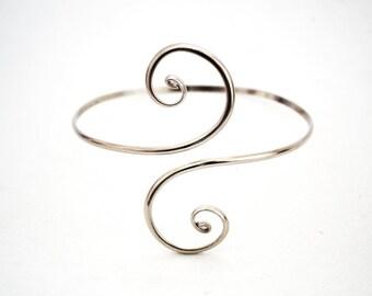 arm bracelet. silver armlet. silver arm bracelet. Silver Arm Band. Upper Arm Bangle. Arm Cuff, Upper Arm Cuff