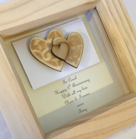 Fifth Wedding Anniversary Ideas: 5th Anniversary Gift Wood Wedding By LoveTwilightSparkles