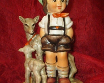 "Hummel Figurine 200/ILittle Goat Herder boy Tmk6 '88 Artist Signature! '89 5 1/2"" Minty!"