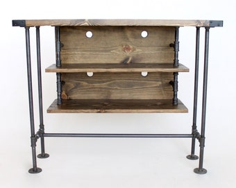 Industrial Style TV Stand, Ready to Ship, Made in Michigan