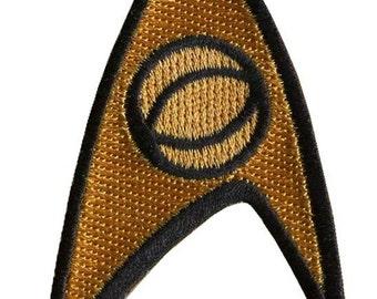 """Starfleet Science Officer Star Trek TOS 1st 2nd Season Aufnäher Patch 3""""x 1.75"""""""