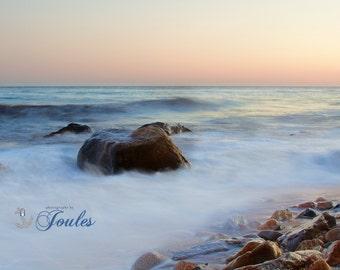 Limited Edition ~ Breaking Rock Road, Westerly, Rhode Island, Fine Art Canvas, New England, Fine Art Photography, Coastal Decor, Nautical