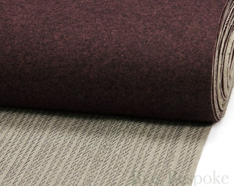 Heathered Burgundy Undercollar for Tailoring - Ready Made, Melton with Canvas, Sold by the Yard