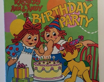 Raggedy Ann and Andy Birthday Party Vintage Vinyl Record Album LP 1980