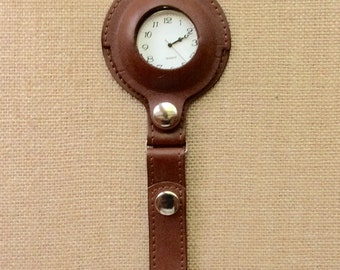 Retro Leather Pocket Watch