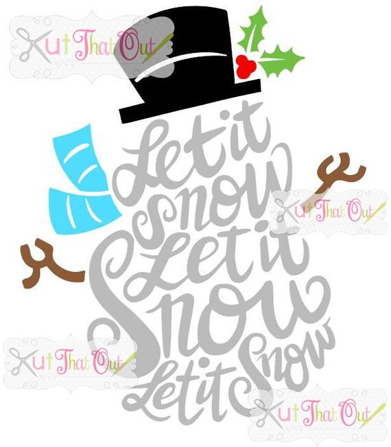 Exclusive let it snow snowman svg dxf file