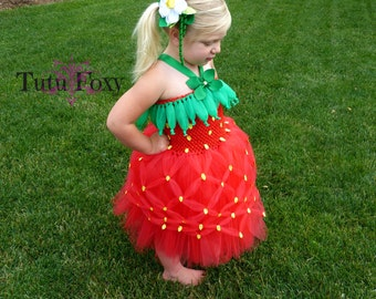 Strawberry Tutu Dress, Strawberry Tutu, Strawberry Costume, Strawberry Birthday, Strawberry Outfit, Halloween costume