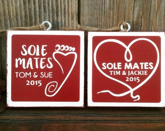 "Single Sided ""Sole Mates"" Race Ornament"