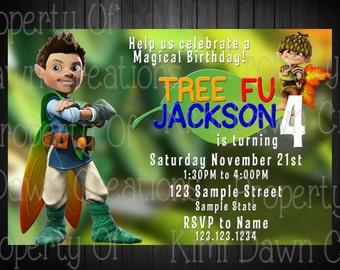 Tree Fu Tom Birthday Invitation. Digitial Deivery. Custom