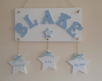 Newborn Baby girl or boy Plaque