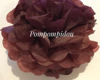 Pack of 2 PomPoms, chocolate color