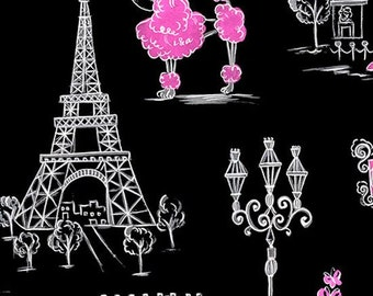 C'est La Vie French Eiffel Towers from Quilting Treasures by the yard