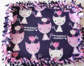 Kitty Blanket - MEOW KITTY - by Mama Meow