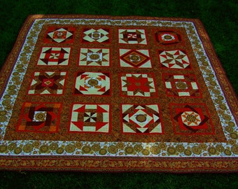 Queen Size Custom Quilted Quilt