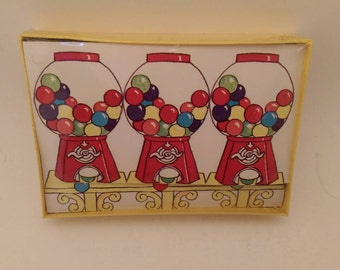 Lot of Two Vintage Gumball Machine 19 Note Cards