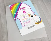 Unicorn invitation, Birthday invitation, girls unicorn invitations, Editable Kids Invitation Template, instant download, My Little pony,