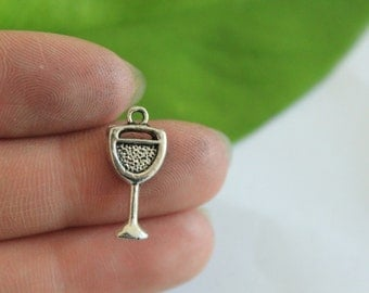 Own Charm ~ Drink Glass Charms, Cup Charms, Drinking Charms, Wine Glass Charms, Bulk Charms 20*9mm