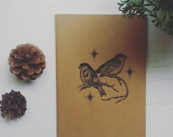 A5 plain illustration  notebook.