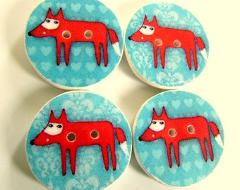 Fox buttons 19mm