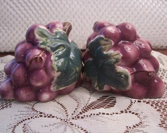 Purple Grapes Salt & Pepper Shakers