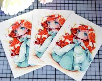 Art Print: Human Ariel (Postcard sized)