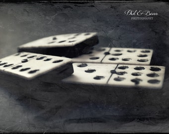 Vintage Dominoes, Greeting Card, Blank Inside, Fine Art Photography, Home Decor