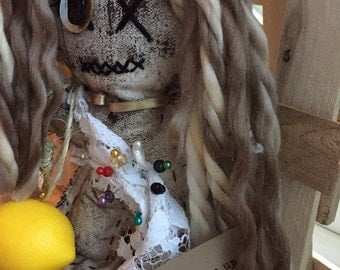 Beyoncé Lemonade Inspired Voodoo Doll ~Handmade Art Doll ~  Pretty Voodoo by Olive*  ~ Olive, Wicca, Find It From Within~