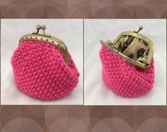 Crochet Handmade Coin Purse *Pink*