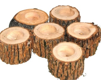 Rustic Wood Candle Holder ~ Tree Branch Candle Holders ~ 45 candle holders - rustic wedding, Forest event, woodland parties