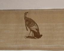 """Peacock Cabin Custom Burlap Valances Beautiful French Themes, Lots of options Can customize with any words Absolutely gorgeous 60"""" valance"""