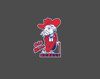 Mississippi State Colonial Reb Full Color - Die Cut Decal