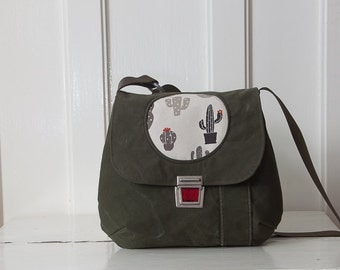 bag canvas handbag succulent Cactus