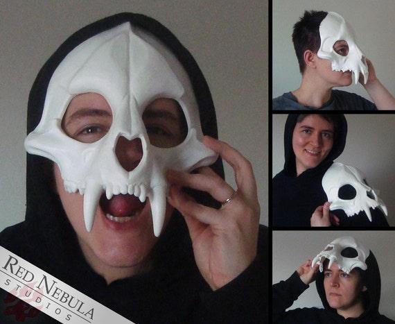 Big Cat Skull Mask, Jaguar Skull Face Mask, Blank Cast Resin Skull, Feline Skull Mask, Cat Skeleton Mask, Tiger, Lion, Leopard, Scary Mask