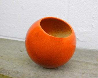 Flower Pot - Ceramic Planter - Orange - Wall Planter