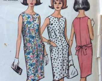 CLEARANCE!!  McCall's 7343 misses proportioned sheath dress size medium 12-14 bust 32 - 34 vintage 1960's sewing pattern