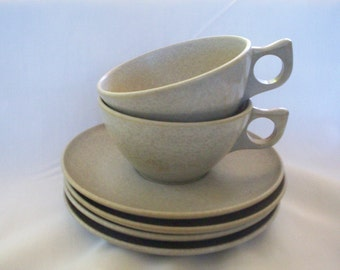 Vintage Melmac Colorflyte Cups and Plates, Mist Grey, ON SALE Mist Gray, USA